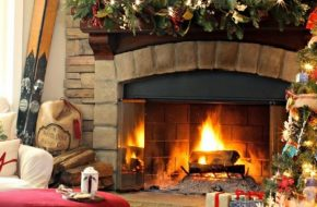 The Warmth of Fireplace Perfect for Christmas Season